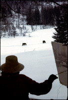 Edith painting in Vermont, 1971